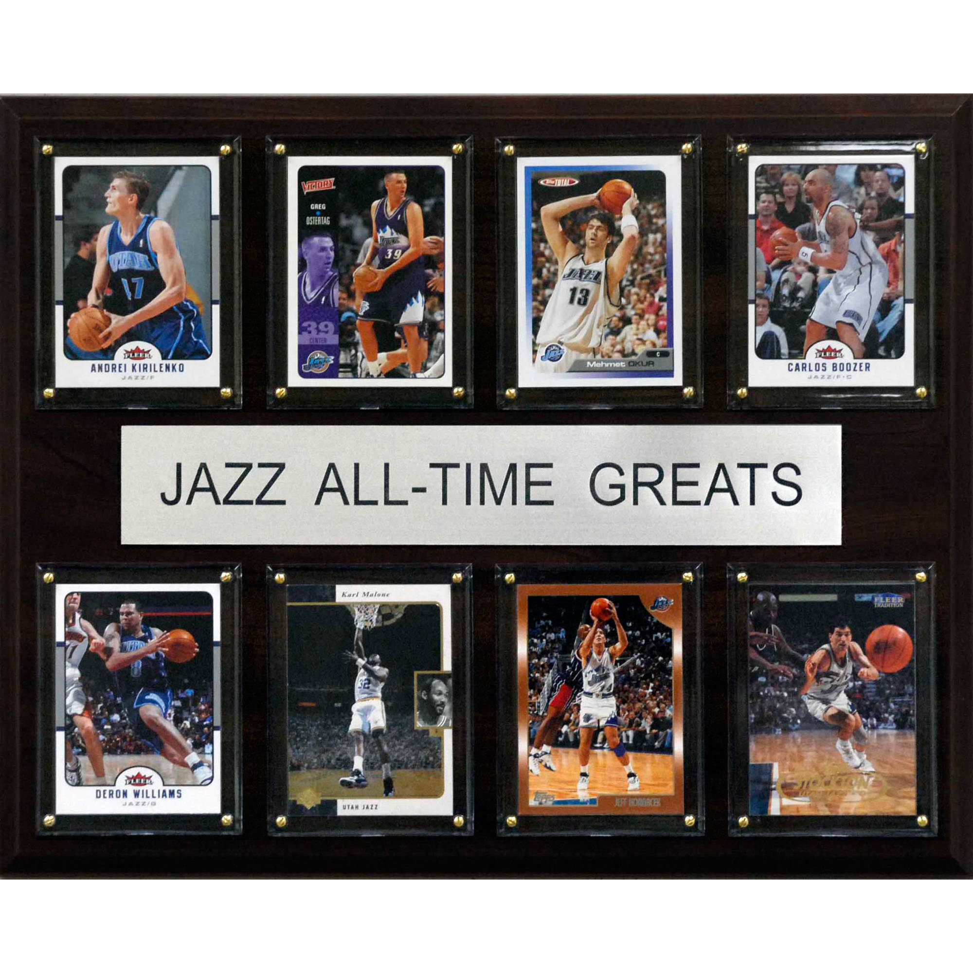 C&I Collectables NBA 12x15 Utah Jazz All-Time Greats Plaque
