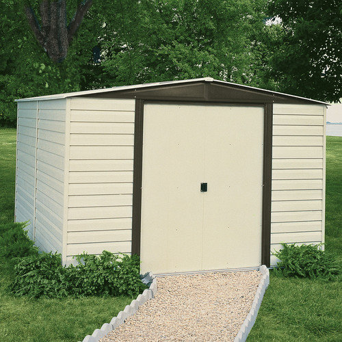 Arrow Dallas 8 Ft. W x 6 Ft. D Vinyl Coated Steel Storage Shed