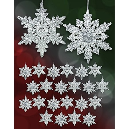 Acrylic Iridescent Snowflake Christmas Ornaments Winter Wedding
