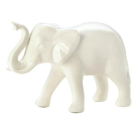 Table Decor, Classic White Bedside Room Accent Vanity Elephant Figurine Small (Sold by Case, Pack of 6) ()