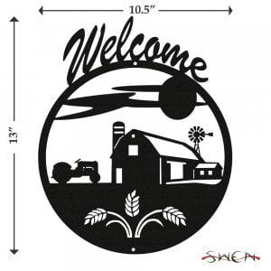 FARM SCENE Welcome Sign (Scene Welcome Sign)