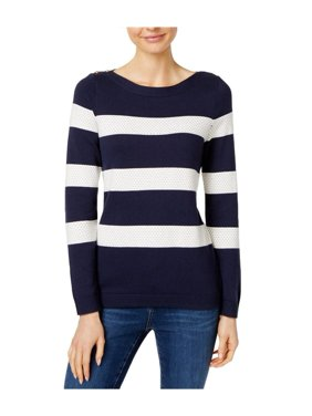 b73e4821b5a Product Image Charter Club - Stripe-Stitch Sweater - Petities - P S PETITE  - BLUE