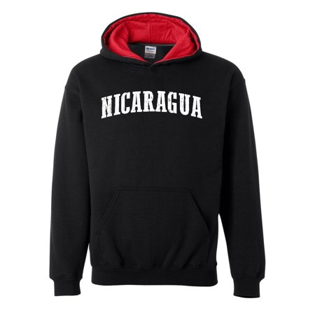 What To Do In Nicaragua Travel Deals Pacific Caribbean Cruise Map Flag Contrast Color Mens Hoodie