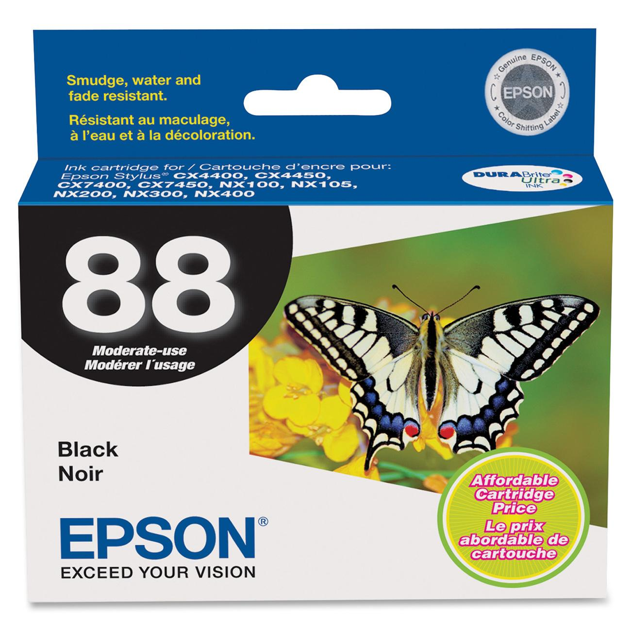 Epson, EPST088120, T088120/220/320/420/520 Ink Cartridges, 1 Each