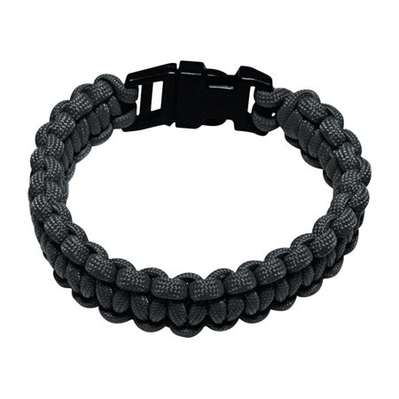 550 lb Military Grade Paracord Survival Bracelet, Medium, 8.5, Black](Black Jelly Bracelets)