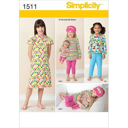 Simplicity Patterns Child Sleepwear, 3, 4, 5, 6, 7, (Sewing Patterns Western Wear)