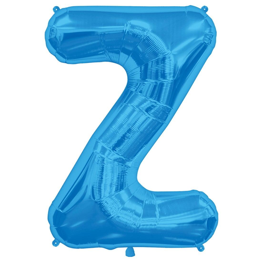 """northstar 00299 letter z foil mylar balloon, 34"""", blue"""
