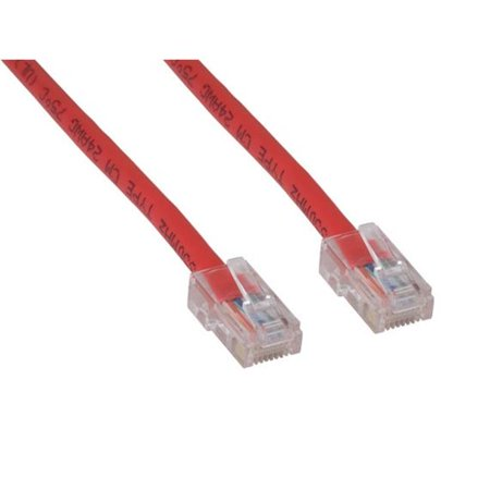 Cable Leader C5102-7005 5 ft. Cat5e 350 MHz UTP Assembled Patch Cable, Red Assembled Red Patch Cable