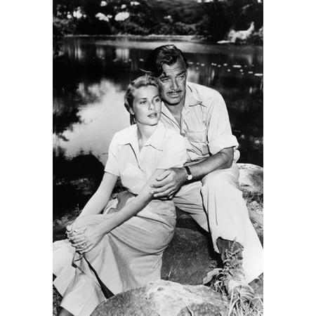 Grace Kelly Clark Gable - Mogambo Clark Gable Grace Kelly 24x36 Poster