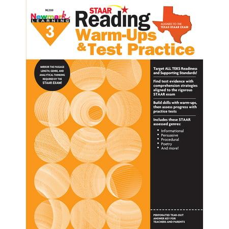 Staar: Reading Warm Ups and Test Practice G3 - Cheerleader Warm Ups