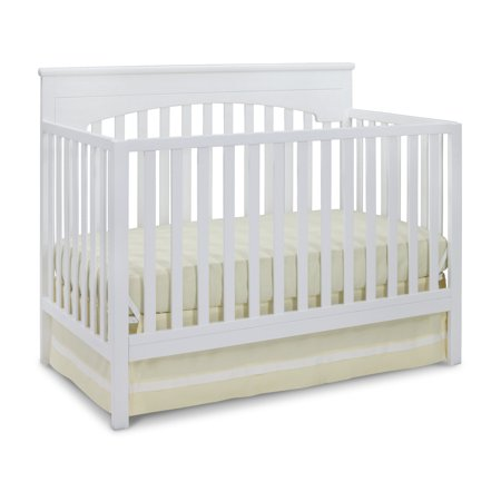 Delta Children Layla 4-in-1 Convertible Crib, (Choose Your Finish)