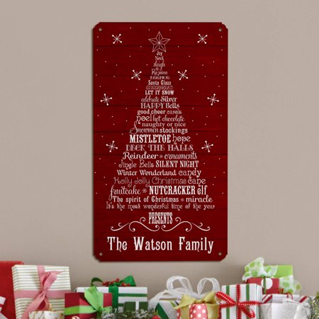 Personalized Deck the Halls Metal Sign (Hall Of Metal)