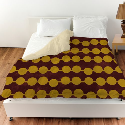 Manual Woodworkers & Weavers Line Dots Duvet Cover