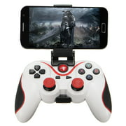 New Bluetooth 4.0 Wireless Gamepad Controller Joystick For Android Phone with Phone Bracket Wireless Bluetooth Gamepad Game Controller WHITE