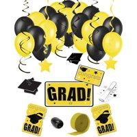 Congrats Grad 38pc Decoration Graduation Pack - School Colors