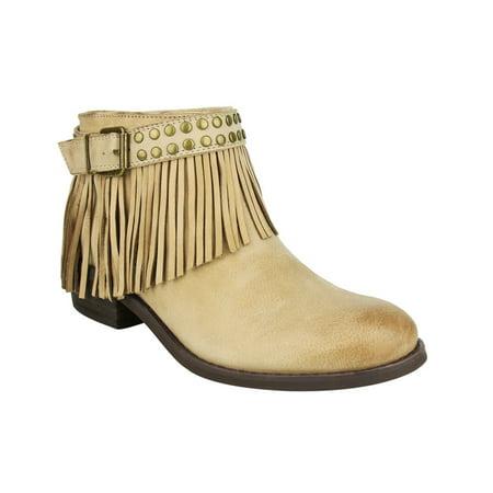 Naughty Monkey Womens Rock - naughty monkey womens amiggo leather fringe ankle boots