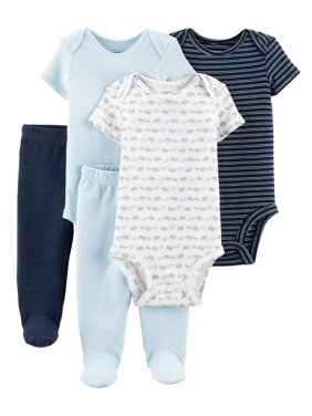 3ea849d98904a Product Image Child Of Mine By Carter's Short Sleeve Bodysuits & Pants, 5pc Outfit  Set (Baby