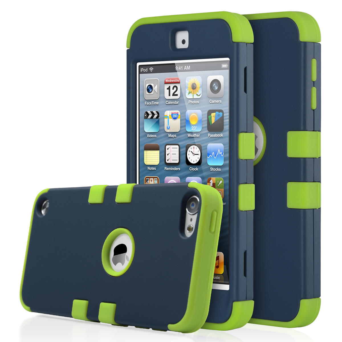 c4bc590da4 iPod Touch 6 Case iPod Touch 5 Case ULAK 5th 6 Touch iPod Case Hybrid Hard  Pattern with Silicon Case Cover for Apple iPod Touch 6 5th Generation ...