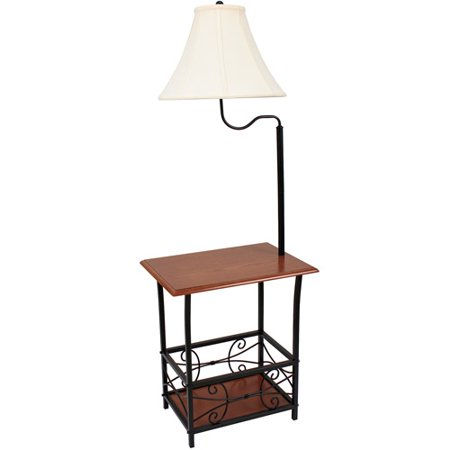 Metal magazine floor lamp with mdf table walmartcom for Buy floor lamp with table