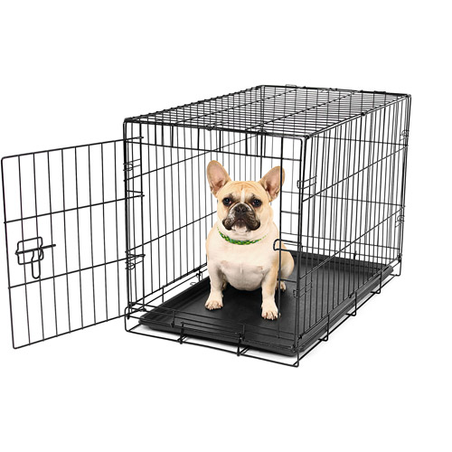 Carlson Compact Single Door Metal Dog Crate, Small