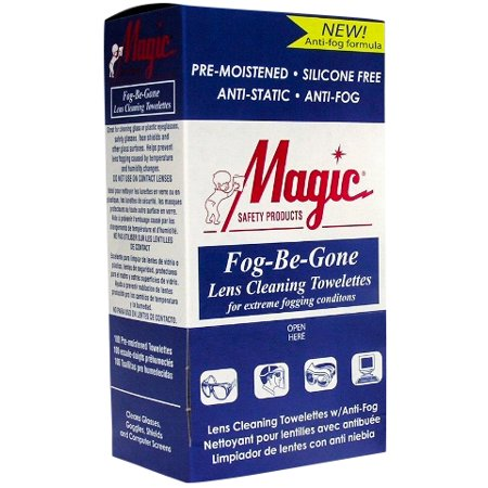 Magic Safety Anti-Fog Lens Cleaning Towelettes 100 Per Box MS-93160