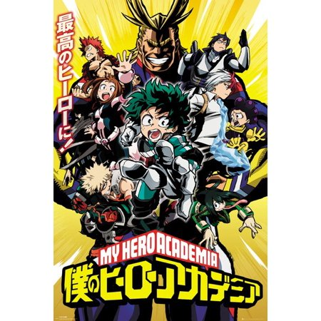 My Hero Academia - Manga / Anime TV Show Poster / Print (Season 1 Key Art) (Size: 24