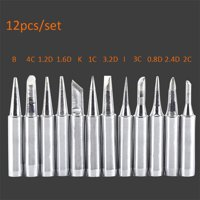 12pcs Solder Iron Tips Set For Hakko Atten 900M T 906 909 936 937 soldering TP