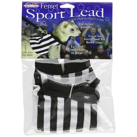 - Marshall Ferret Sport Lead, Black and White, One size fits most By Marshall Pet Products