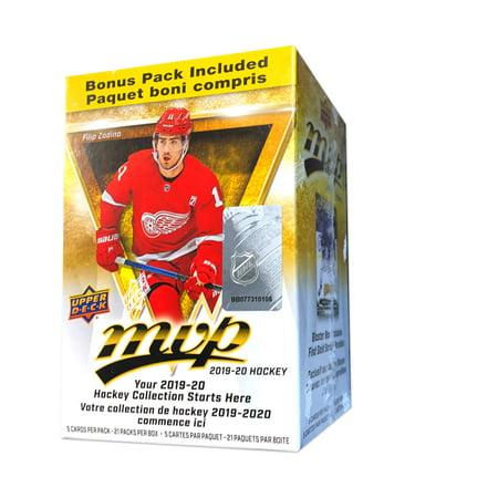 2019-20 Upper Deck MVP Hockey Blaster Box- NHL Hockey Trading Cards | 21 Packs | Exclusive Gold Script
