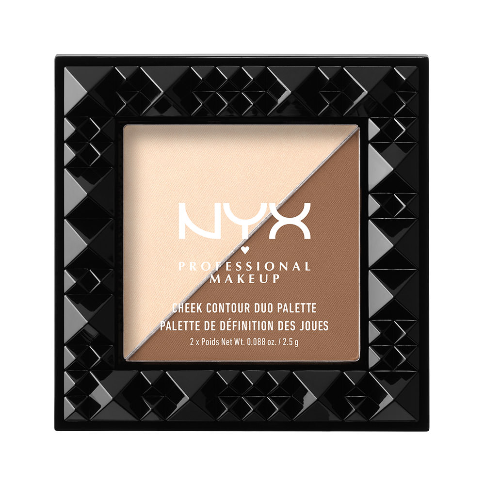 NYX Professional Makeup Cheek Contour Duo Palette, Double Date