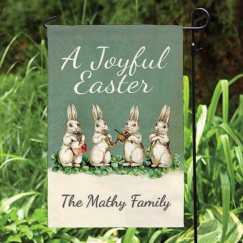 Personalized A Joyful Easter Garden Flag
