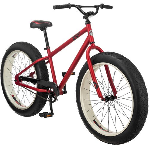 26 Mongoose Beast Men S All Terrain Fat Tire Mountain Red