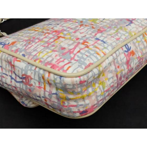 65742cc0d7c8 Limited Edition Watercolor Clover Charm Flap 226033 Multicolor Canvas X  Leather Shoulder Bag - Walmart.com