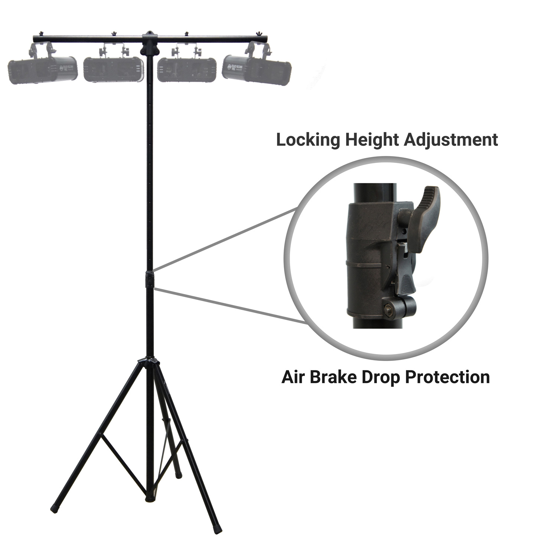 Harmony HA-TBARA Pro DJ Lighting Tripod & T-Bar Light Stand Button Air Lowering by Harmony Audio Stands