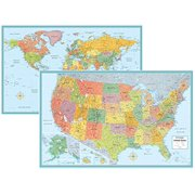 World map posters rand mcnally signature united states usa and world wall map set gumiabroncs Gallery