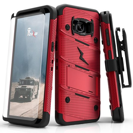 new product 4409b a649e Galaxy Note 8 / S8 / S8 Plus Case, Zizo Bolt w/ Screen Protector and Holster