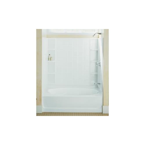 Sterling Ensemble White 4 Piece Alcove Shower Kit (Common: 42 In X