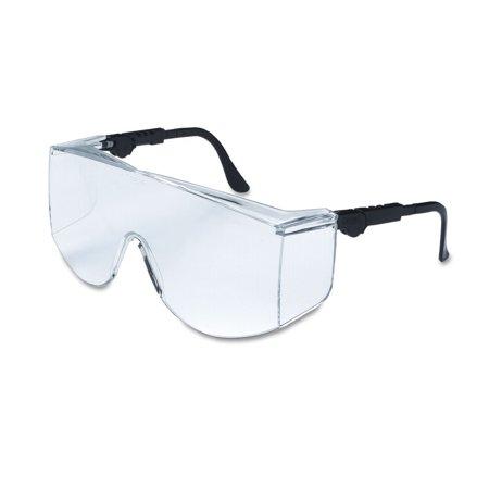 Tacoma Wraparound Safety Glasses Black Frames Clear Lenses
