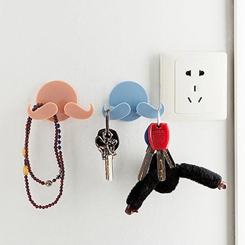 Micelec Creative Home Self-adhesive Beard Multifunction Power Plug Holder Hanger Hook