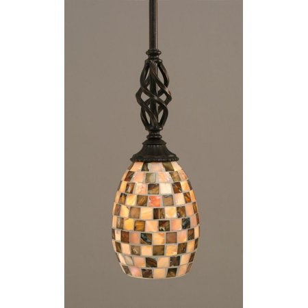 Toltec Lighting-80-DG-408-Elegante - One Light Mini-Pendant  Dark