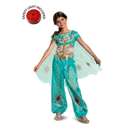 Toddler Biker Girl Halloween Costume (Girl's Jasmine Teal Classic Toddler Halloween Costume - Aladdin Live)