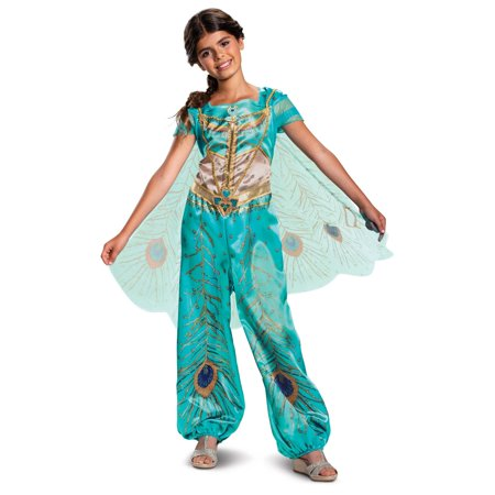 Girl's Jasmine Teal Classic Toddler Halloween Costume - Aladdin Live