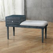 Furniture of America  Jays Contemporary Grey Solid Wood Accent Bench