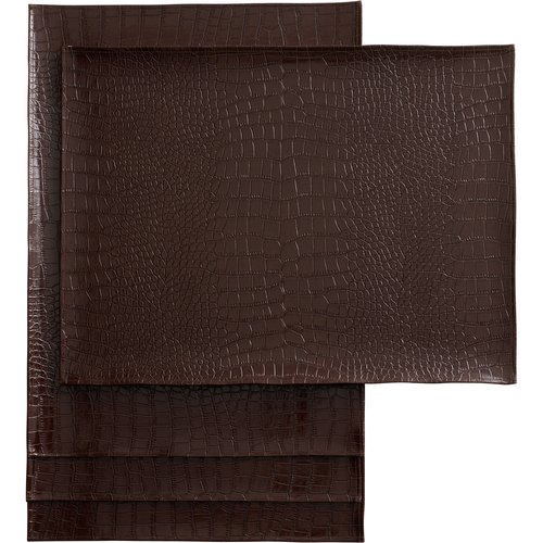 Hometrends Croc Placemat Dark Brown Walmart Com