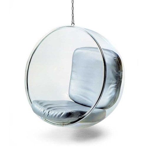 Fine Mod Imports Bubble Hanging Chair in Black