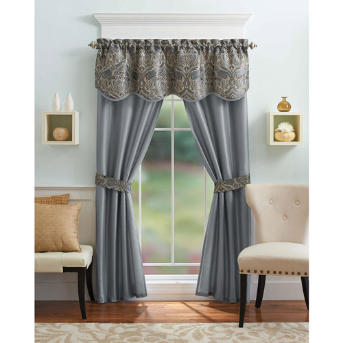 Better Homes and Gardens Medallion 5-Piece Curtain Panel Set by
