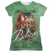 The Polar Express Santa (Front Back Print) Juniors Sublimation Shirt