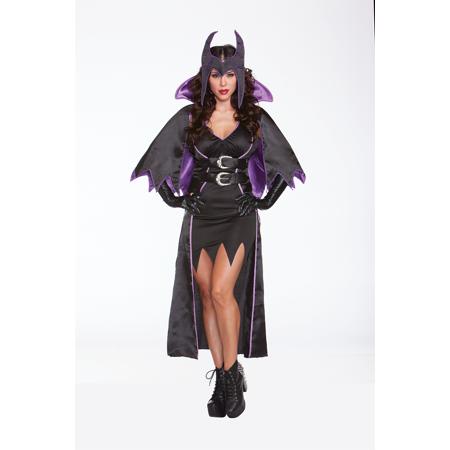 Halloween Wholesalers Malice Queen Costume - Black & Purple