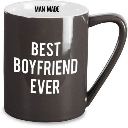 Pavilion - Best Boyfriend Ever Dark Gray 18 oz Coffee (Best Diy Gifts For Boyfriend)