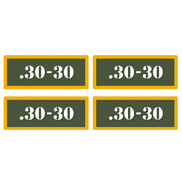 ".30-30 Ammo Can 4 Pack 3"" Olive OD Sticker Gun Ammunition Box Case Decal"